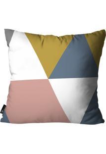 Capa Para Almofada Mdecore Abstrato Colorido 55X55