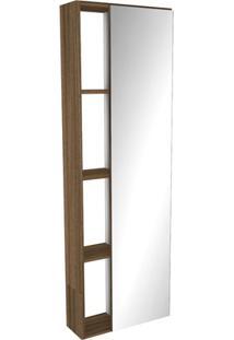 Armário Com Espelho Em Mdf Florença 121,5X40Cm Terracota
