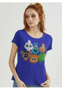 Camiseta Bandup! Turma Da Mônica Biduzidos - Feminino-Azul