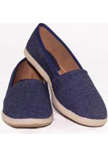 Alpargata Gomes Shoes Conforto Feminina - Feminino-Azul