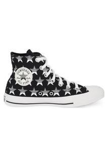 Tênis Converse Chuck Taylor All Star Hi Estrelas Preto/Branco/Branco Ct14790001.33