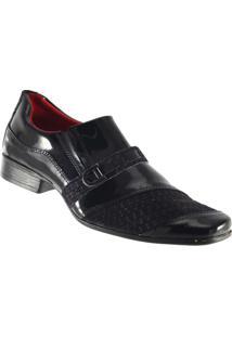 Sapato D'Mazons Social Masculino - Masculino-Preto