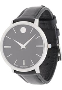 3c13ce4a009 Movado Relógio  Ultra Slim  De Aço Inoxidável - Preto