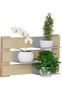 Jardim Vertical C/ 3 Prateleiras E 2 Cachepots Green – Be Mobiliário - Natural