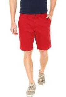 Bermuda Tommy Hilfiger Comfort Vermelha