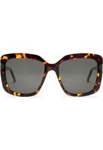 Óculos Iris Solar Demi Scotch Livo Eyewear Feminino - Feminino-Marrom