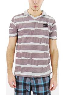 Camisa Hd Polo Marrom/Cinza