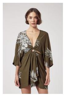 Vestido Curto Floral Bosc Verde Est Floral Bosc Verde