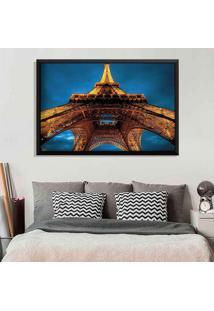 Quadro Love Decor Com Moldura Torre Eiffel La Nuit Preto Grande