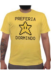 Preferia Star Dormindo - Camiseta Clássica Masculina