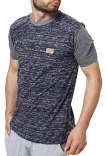 Camiseta Manga Curta Masculina Occy Azul