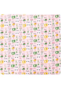 Fendi Kids Cobertor Estampado - Rosa