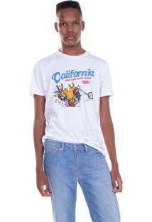 Camiseta Levis Masc California The Laid Back State Branco Branco