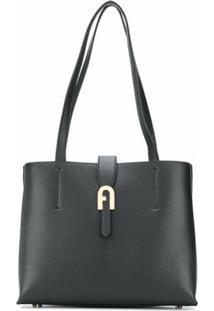 Furla Structured Shoulder Bag - Preto