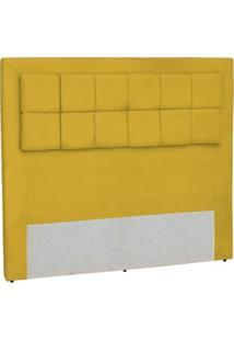 Cabeceira Casal Queen Cama Box 160 Cm Giovana Amarelo Condor Decor