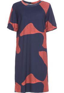 Vestido Pala Urbana Cantão - Azul