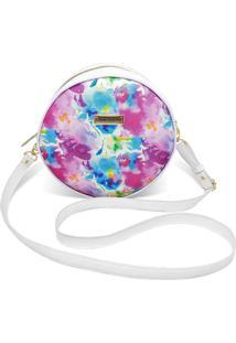 Bolsa Redonda Feminina Lisa Mini Bag Transversal - Multicolorido - Feminino - Dafiti