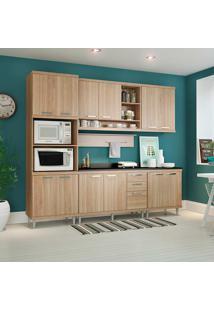 Cozinha Compacta Com Tampo 7 Peças 5815-S8T Sicília - Multimóveis - Argila Acetinado