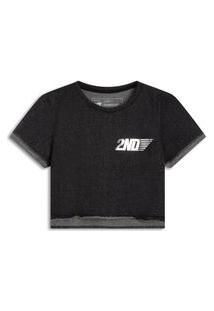 T-Shirt Cropped Moletinho Thuder