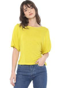 Blusa Colcci Mangas Balonê Amarela