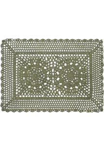 fcd6be6bec Amazon. Americano Retangular Oliva Jogo Crochet