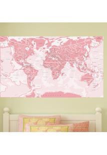 Adesivo Mapa Rosa