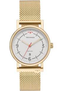 Relógio Technos Unissex Slim - 9T13Ab/4B 9T13Ab/4B - Unissex-Dourado