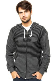 Blusa Moletom Oakley Square O Stripe Jet Black