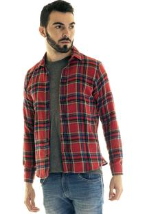 Camisa Konciny Xadrez Flanela 33501 Vermelho