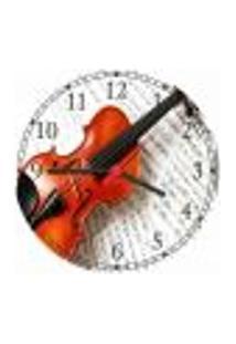 Relógio De Parede Banda Instrumentos Violino Clássico