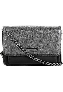 Bolsa Shoestock Mini Bag Tiracolo Metalizada Feminina - Feminino