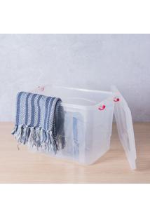 Caixa Organizadora Pratic Box 20 Litros 41X29X25Cm Translucido Paramount Plásticos