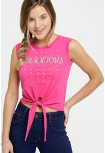 Blusa Feminina Cropped Estampa Frontal