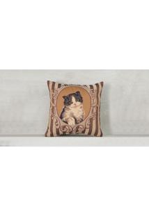 Capa De Almofada Kitty Cor: Marrom - Tamanho: Único