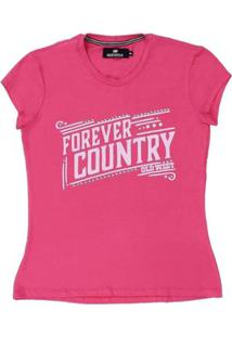 Camiseta Old West Country Forever Feminina - Feminino-Rosa