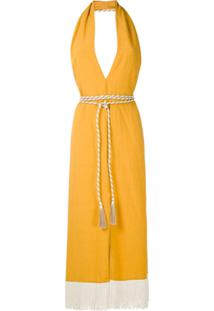 Framed Vestido Nassau Frente Única - Amarelo