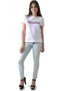 Camiseta Opera Rock Feminina - Feminino-Branco