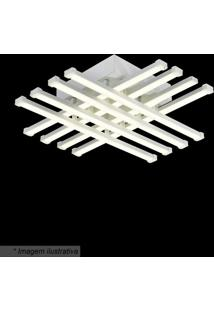 Plafon De Teto- Branco- 11X42X42Cm- Bivolthevvy