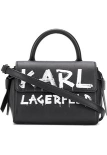 Karl Lagerfeld Bolsa De Mão K/Ikon Mini - Preto