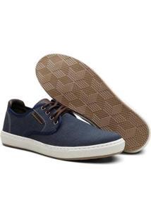 Sapatênis Jeans Vicerinne Cadarço Conforto Casual Macio Masculino - Masculino-Azul Escuro