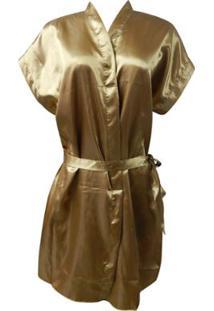Robe Feminino Adulto Luna Cuore - Feminino-Dourado