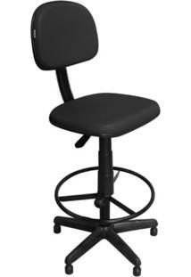 Cadeira Recepção Pethiflex Csx-02 Caixa Alta Giratória Preta