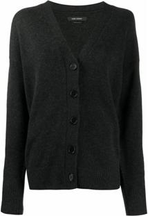 Isabel Marant Knitted Button-Up Cardigan - Cinza