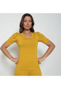 Blusa Com Pregas - Amarela- Vinte4Por7Vinte4Por7