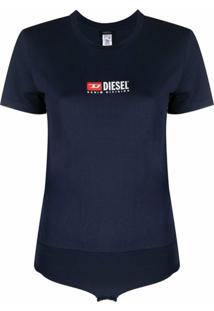 Diesel Body Com Estampa De Logo - Azul