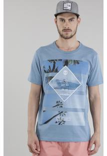 "Camiseta ""Let Go"" Azul Claro"