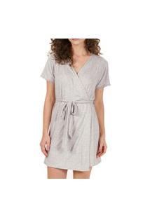 Robe Feminino Curto Cor Com Amor 50095 Cinza