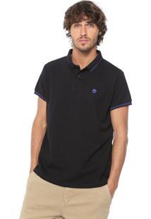 Camisa Polo Timberland Slim 4 Stripes Preta