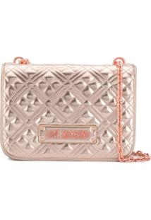 Love Moschino Quilted Shoulder Bag - Dourado