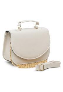 Bolsa Transversal Mini Bag Carmelo Shoes Lisa Off White